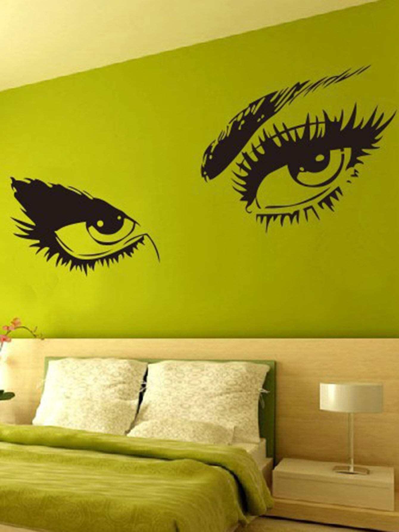 Beauty Eye Wall Decal double wine wall decal