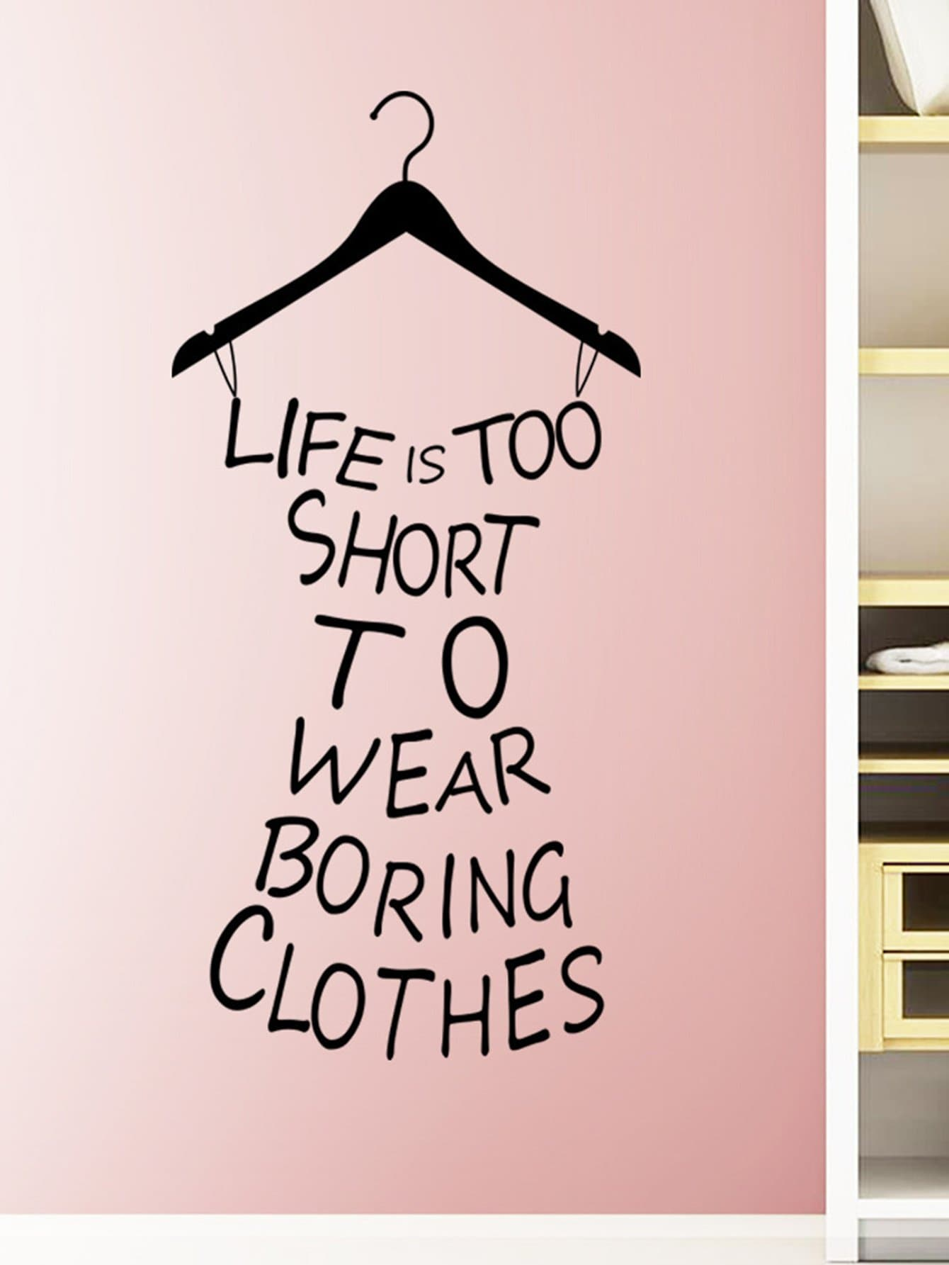 Фото Slogan Dress Wall Decal family wall quote removable wall stickers home decal art mural