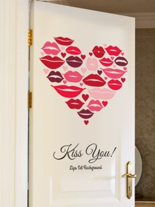 Heart Shaped Lips Wall Decal ROMWE