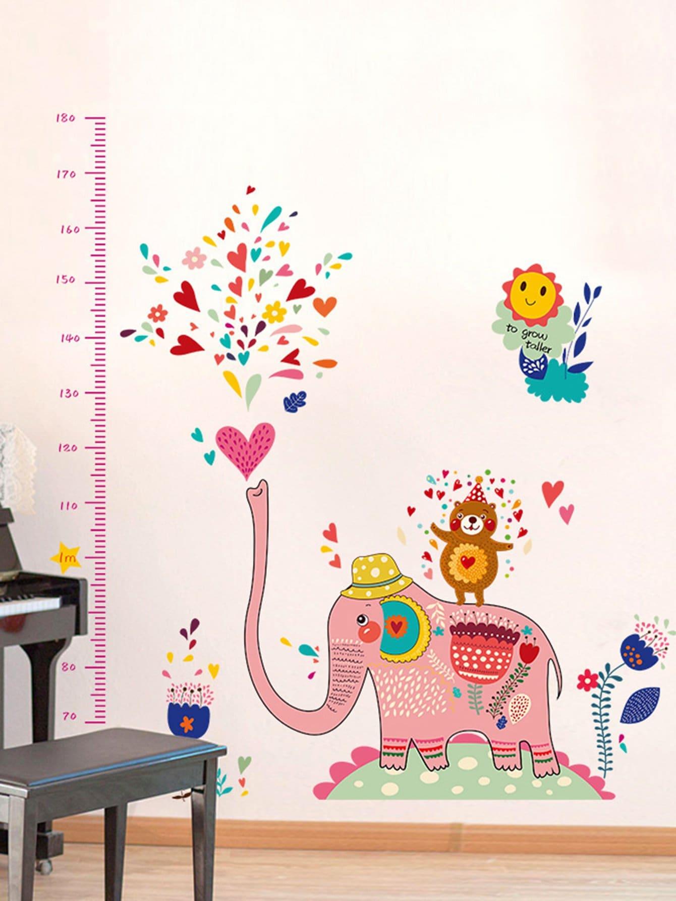 Купить Стикер для стены линейка для роста слон, null, SheIn