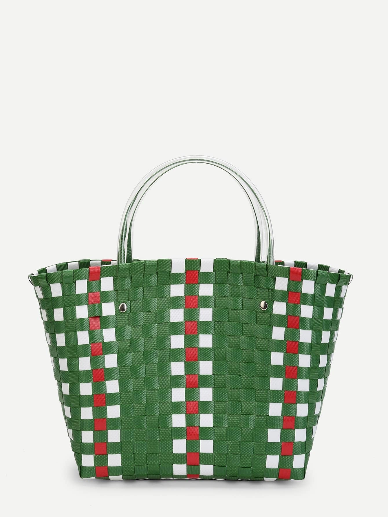 Woven Design Bag With Double Handle woven bag with double handle