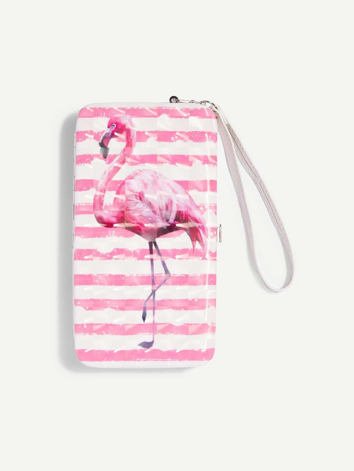 Купить Кошелек для печати фламинго, null, SheIn