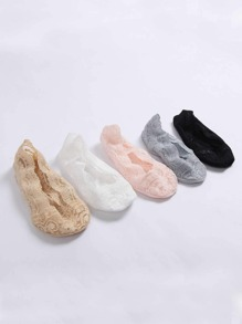 Lace Invisible Socks 5Pairs