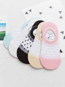 Dot Invisible Socks 5Pairs