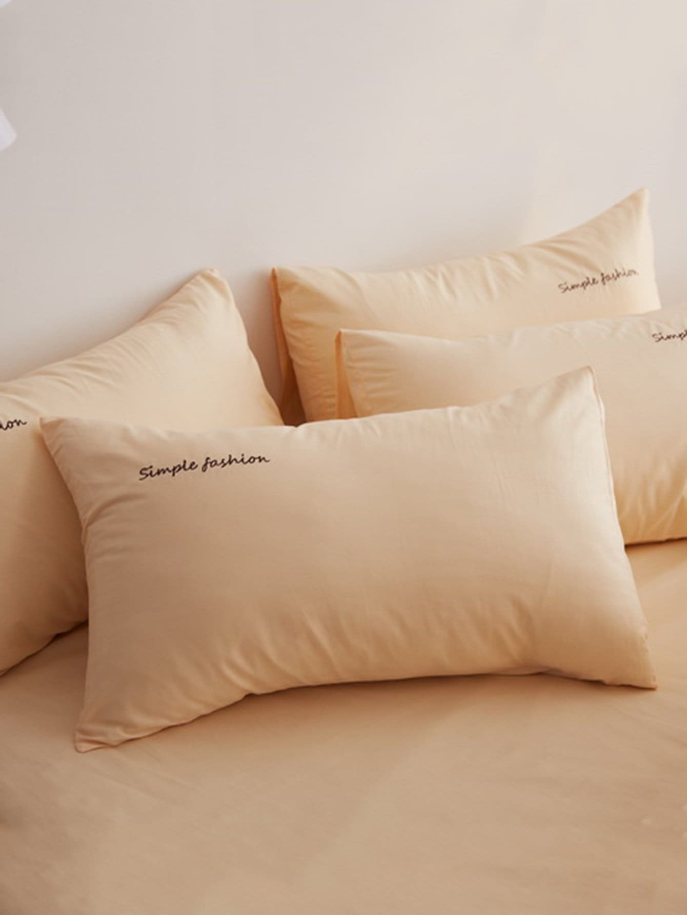 Simple Letter Print Pillowcase Cover
