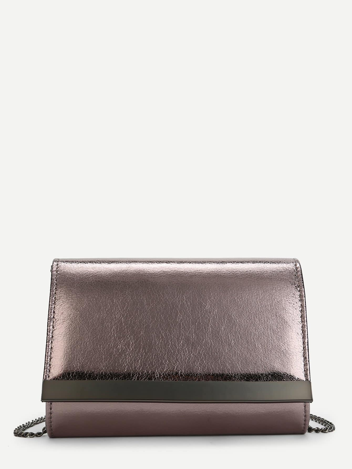 Фото - Flap PU Clutch Bag With Chain evening clutch bag wood rectangle chain wallet travel shoulder