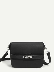 Flap PU Shoulder Bag