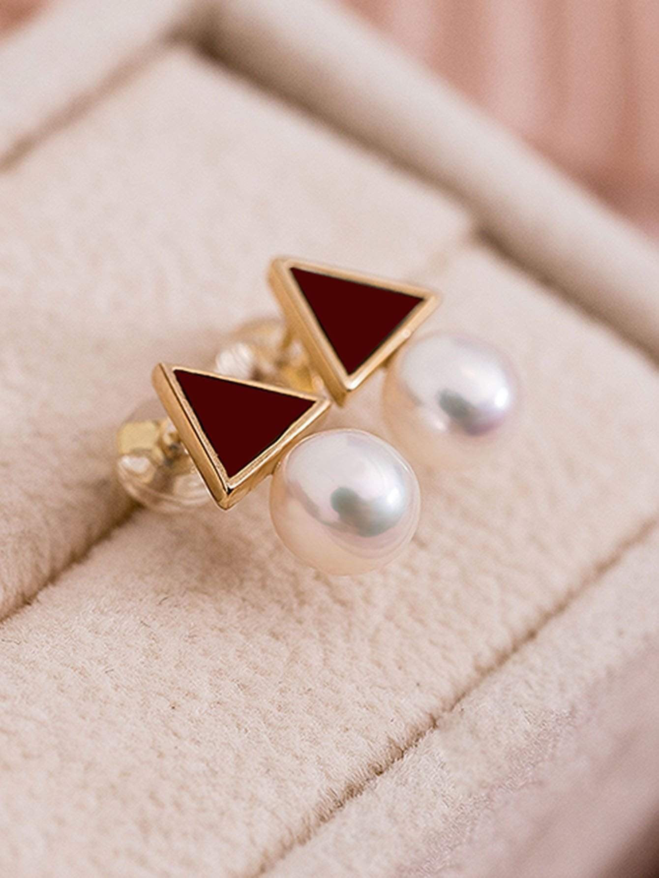 Faux Pearl Triangle Design Stud Earrings велосипед kross level r12 2016