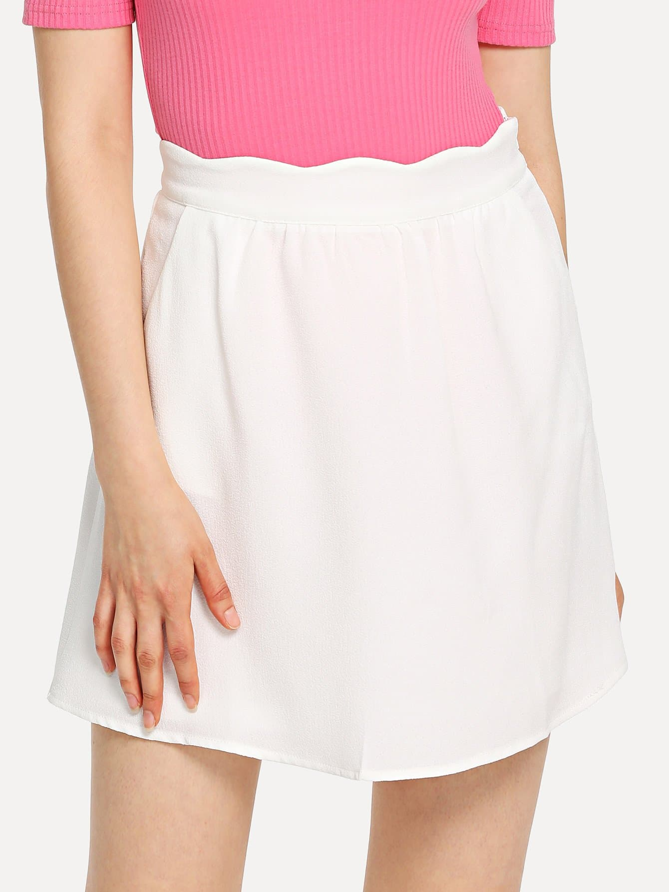 Scallop Waist Band Skirt блузки a karina блузка