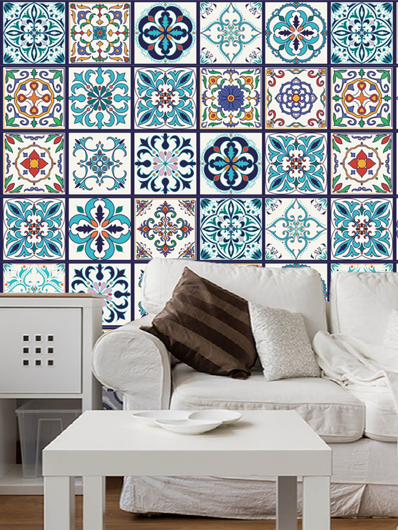 Patchwork Ceramic Tile Sticker 5pcs random brick patchwork ceramic tile sticker 1pc