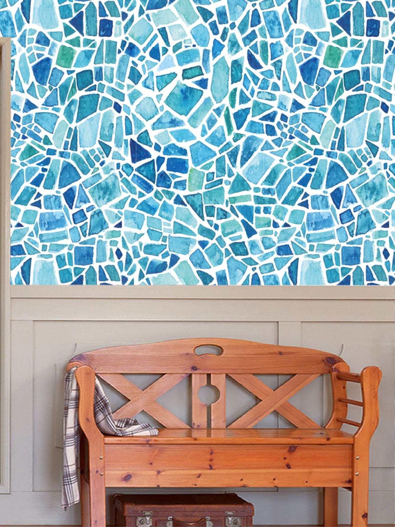 Asymmetric Stone Ceramic Tile Sticker 5pcs random cartoon ceramic tile decal 1pc