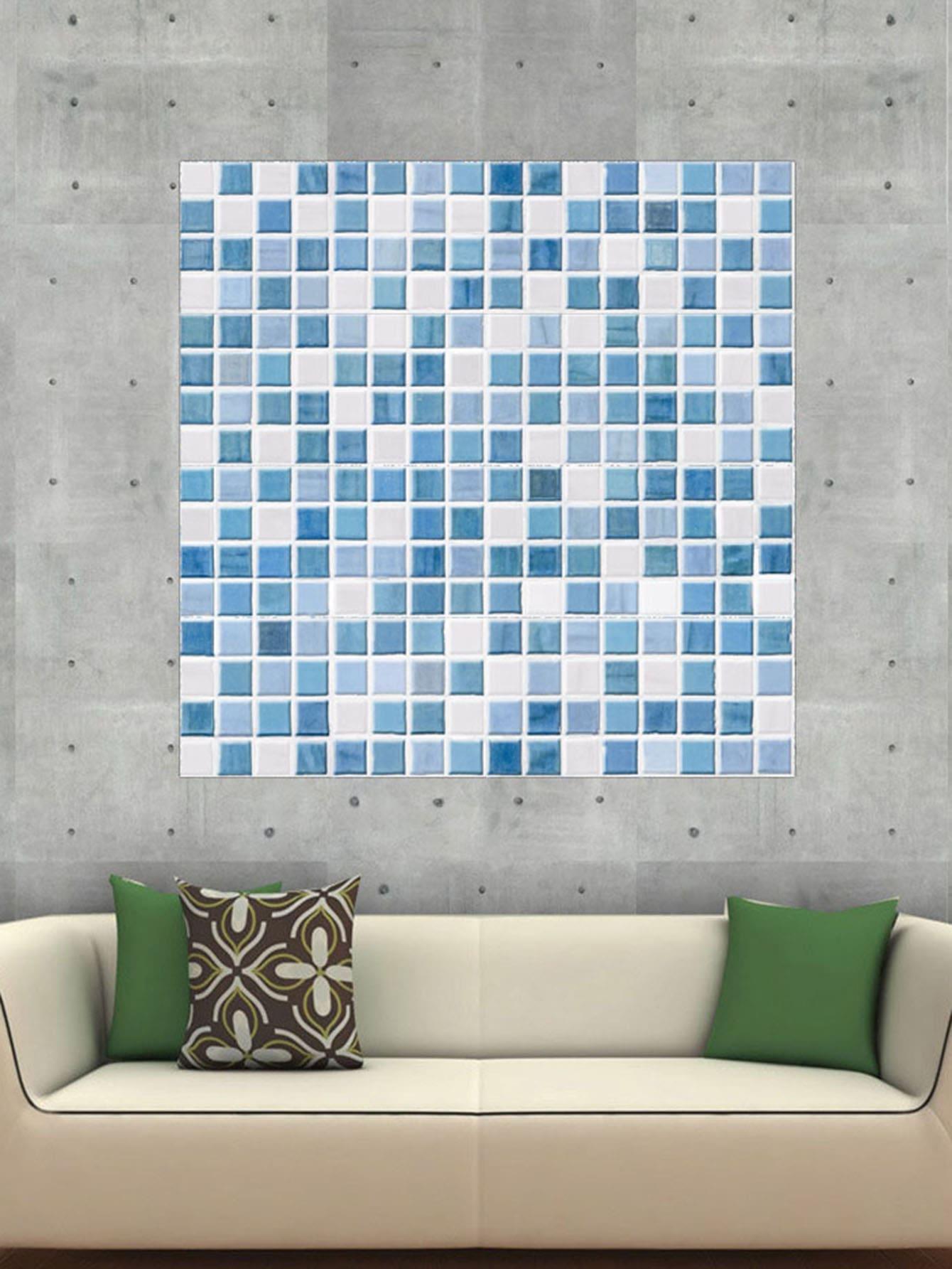 Random Checker Pattern Ceramic Tile Sticker 1pc