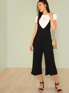Scoop Neck Jumpsuit with Pockets