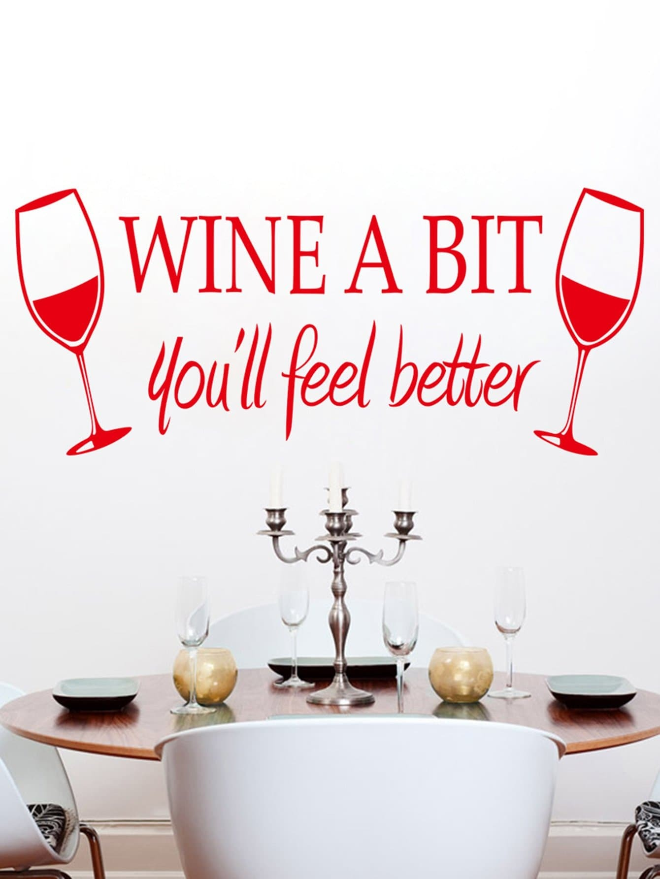 Фото Double Wine Wall Decal family wall quote removable wall stickers home decal art mural