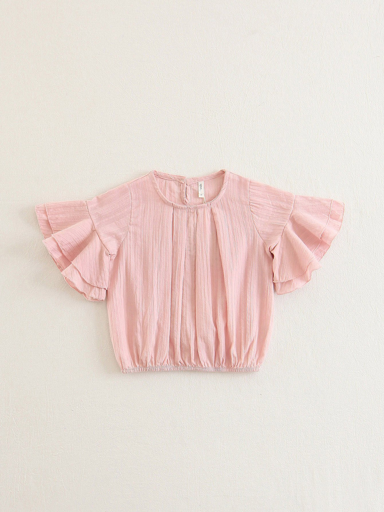 Tiered Ruffle Sleeve Blouse lace panel tiered sleeve blouse