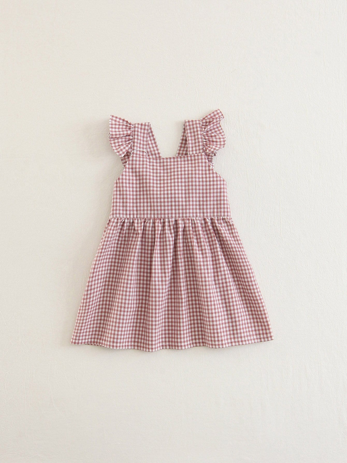Girls Tie Back Gingham Dress