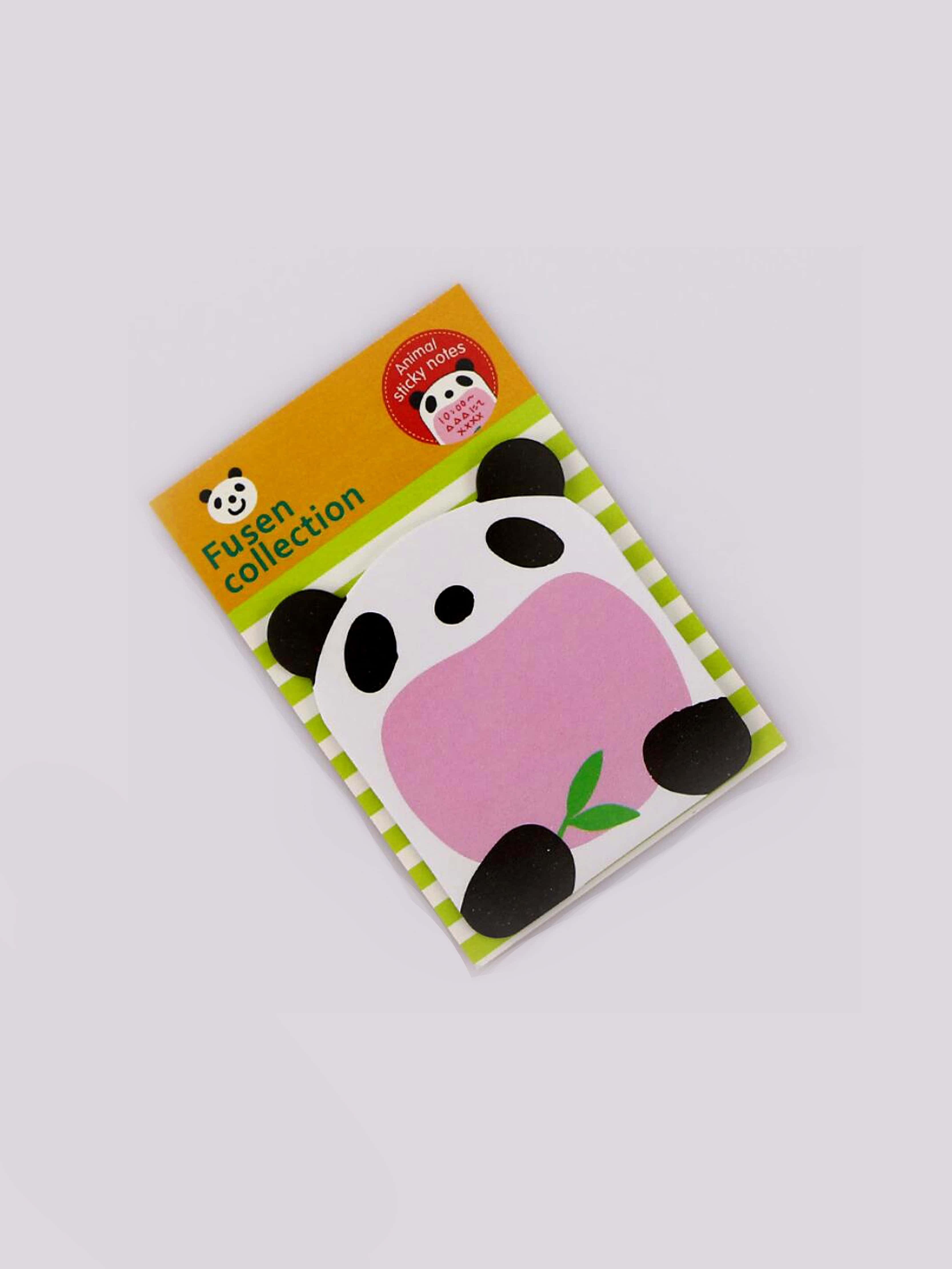 Panda Sticky Memo Pads 18sheets 2x animal cat panda cute kawaii sticky notes post it memo pad school supplies planner stickers paper bookmarks korean stationery