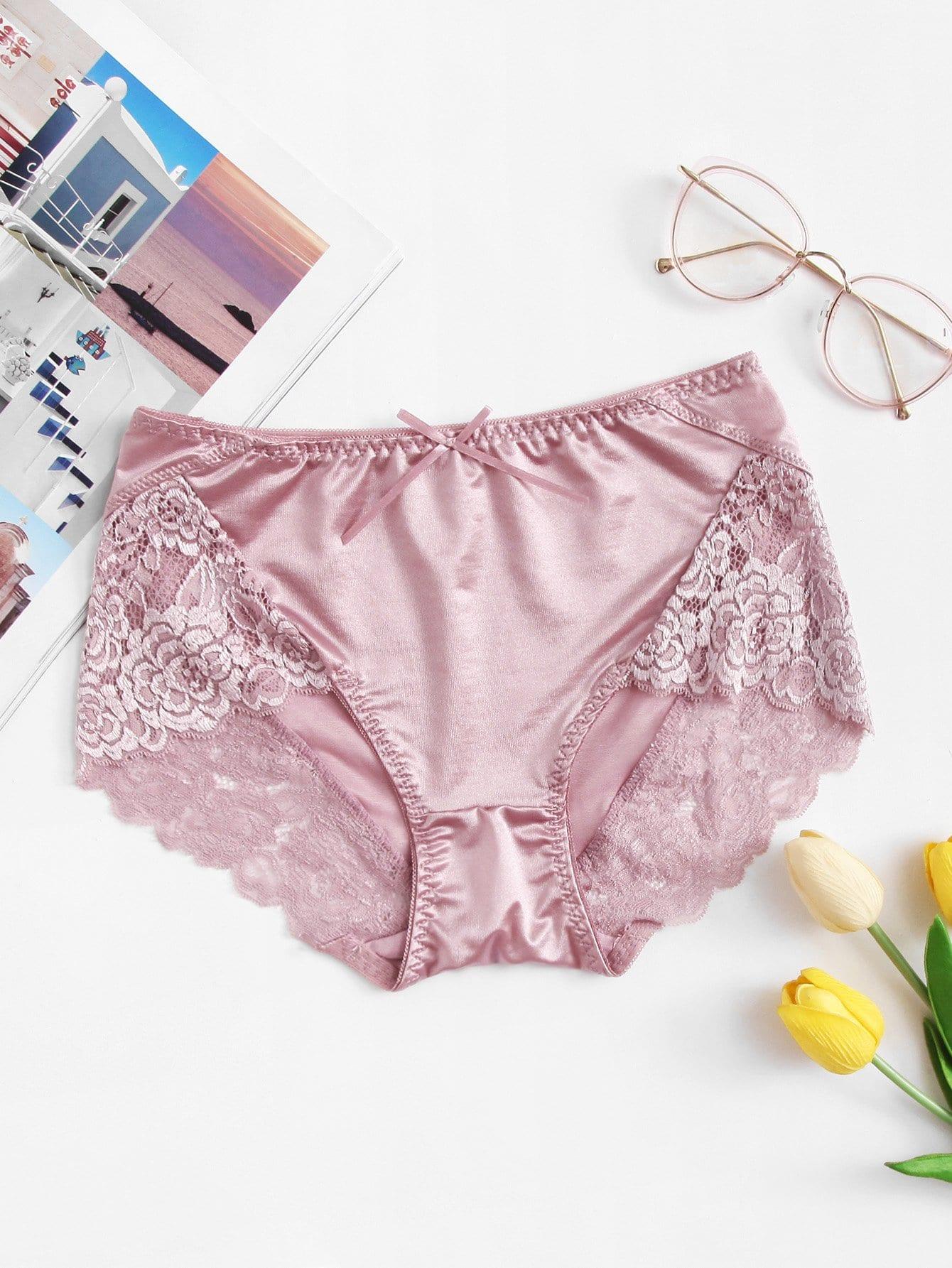 Contrast Lace Panty lace up panty