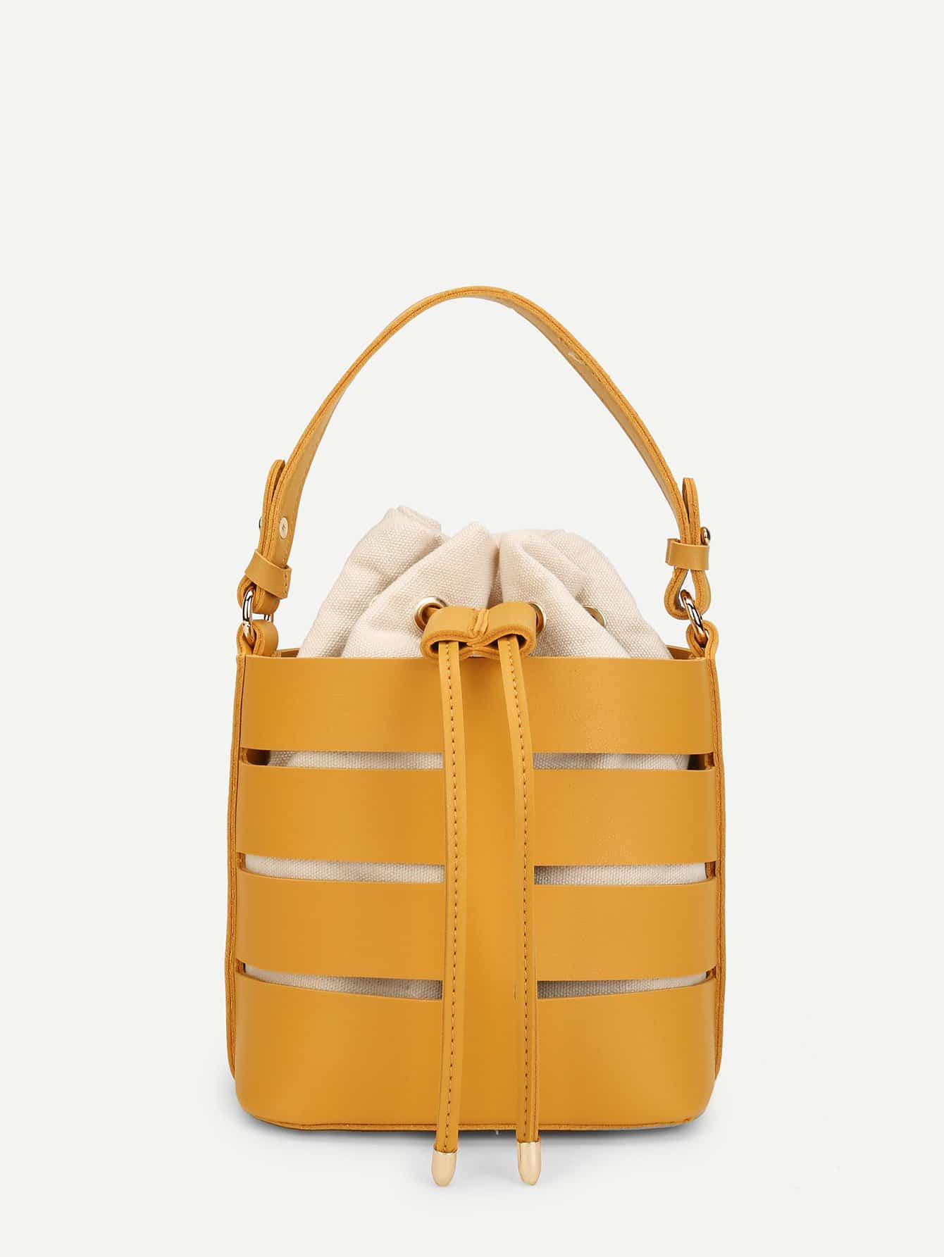 Bucket Bag With Drawstring Inner Pouch bucket bag with drawstring inner pouch