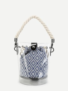 Clear Bucket Bag With Inner Pouch