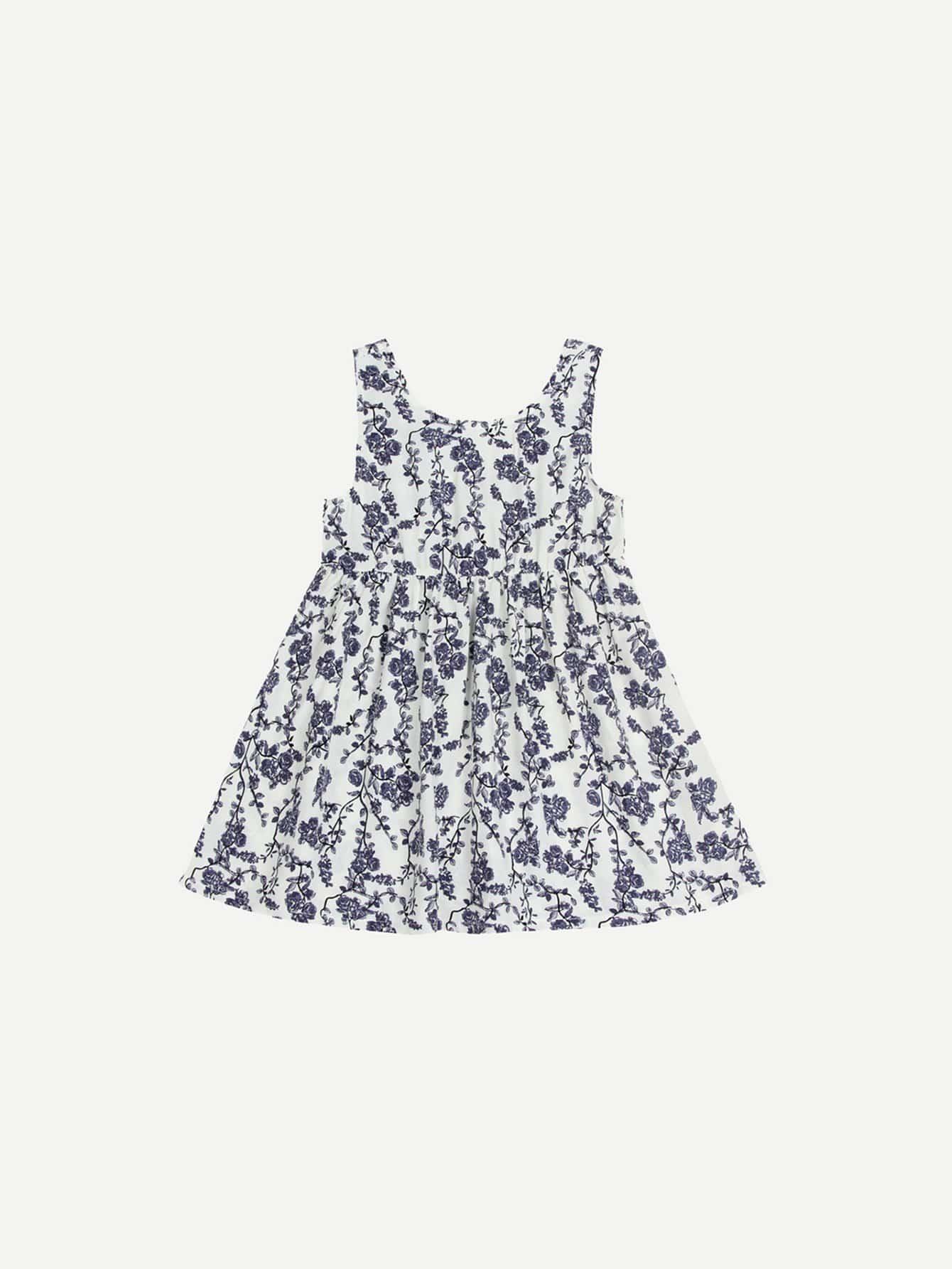 Купить Платье для детей Calico Print, null, SheIn