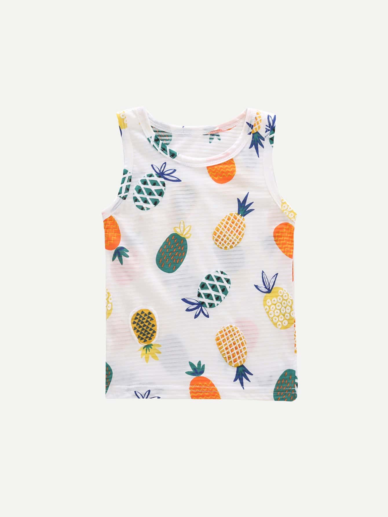Kids Pineapple Print Vest kids pineapple print vest