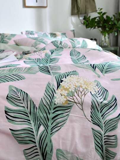 Flower & Leaf Printed Sheet Set