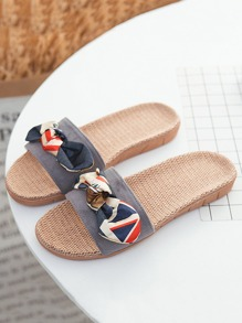 Contrast Bow Flat Sliders