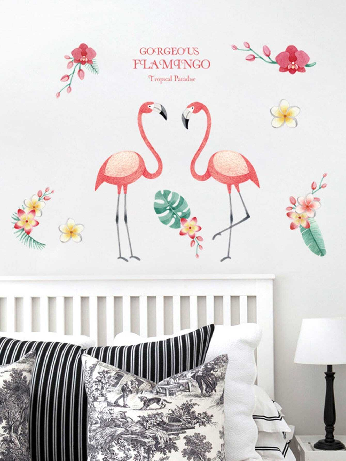 Flamingo Wall Mural family wall quote removable wall stickers home decal art mural