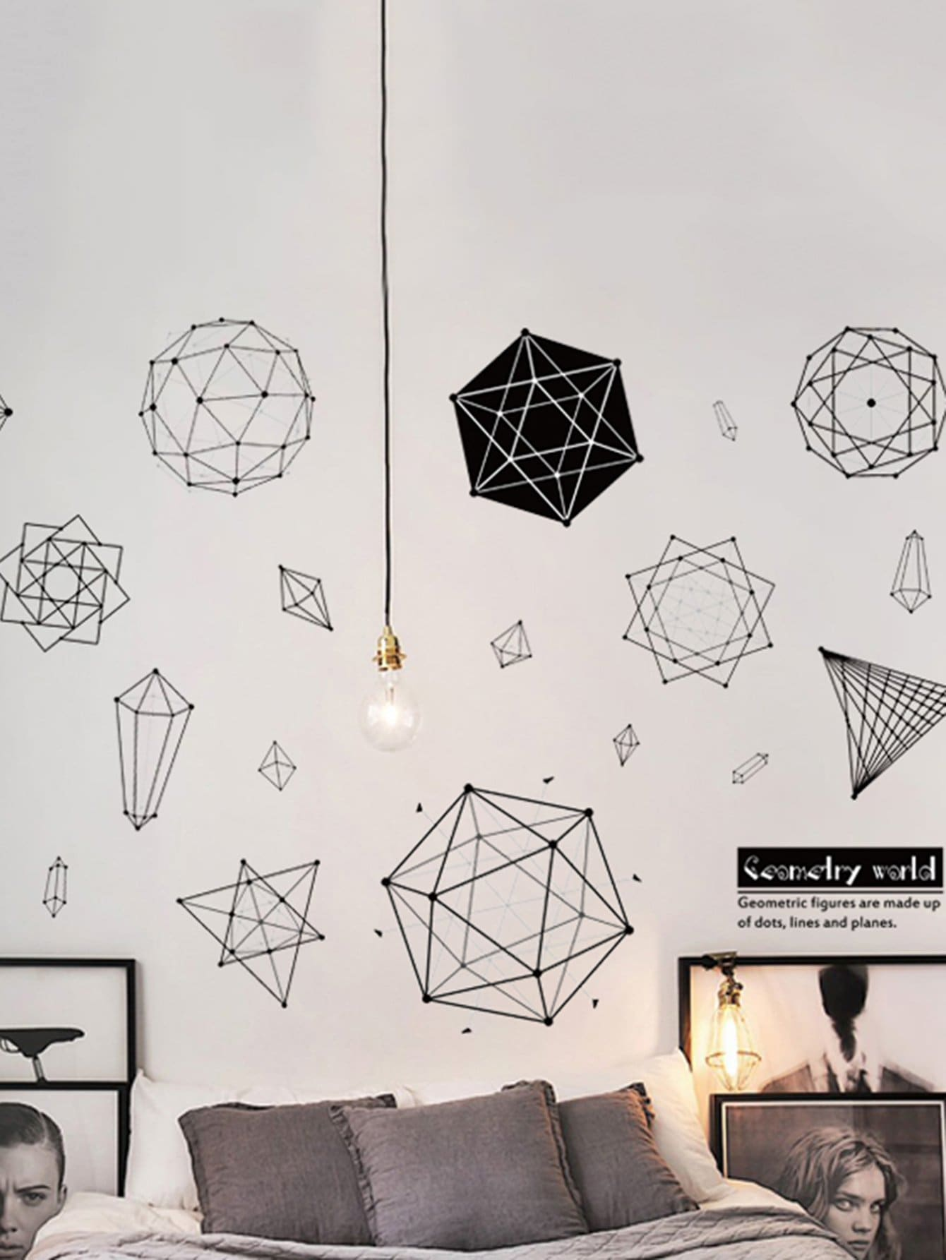 Geometric Pattern Wall Decal family wall quote removable wall stickers home decal art mural