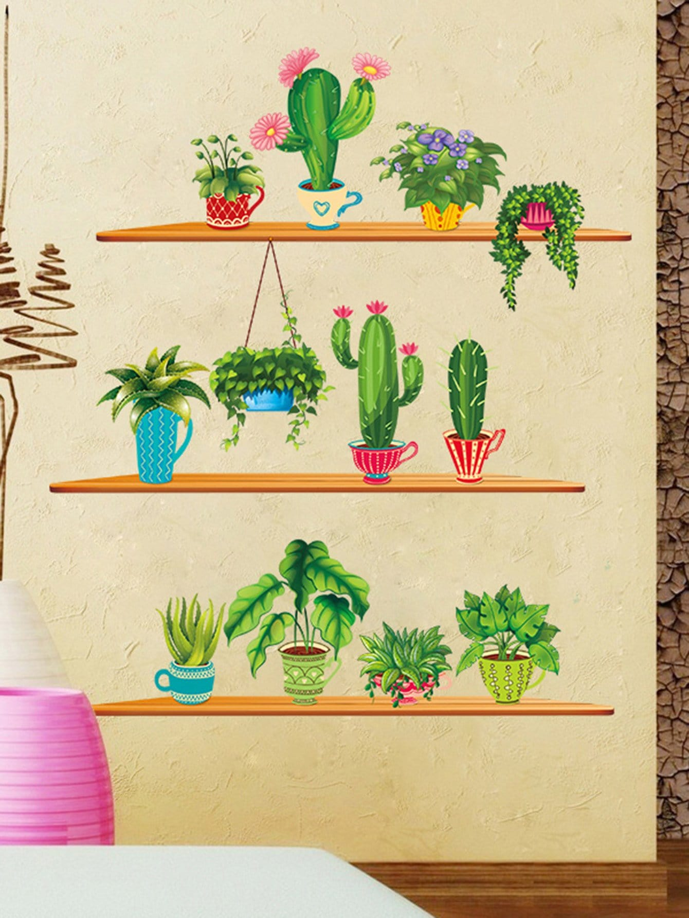 Cactus Wall Decal family wall quote removable wall stickers home decal art mural