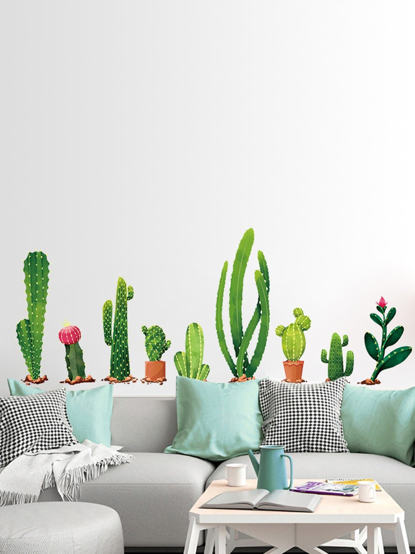 Multi Shaped Cactus Wall Decal cactus wall decal