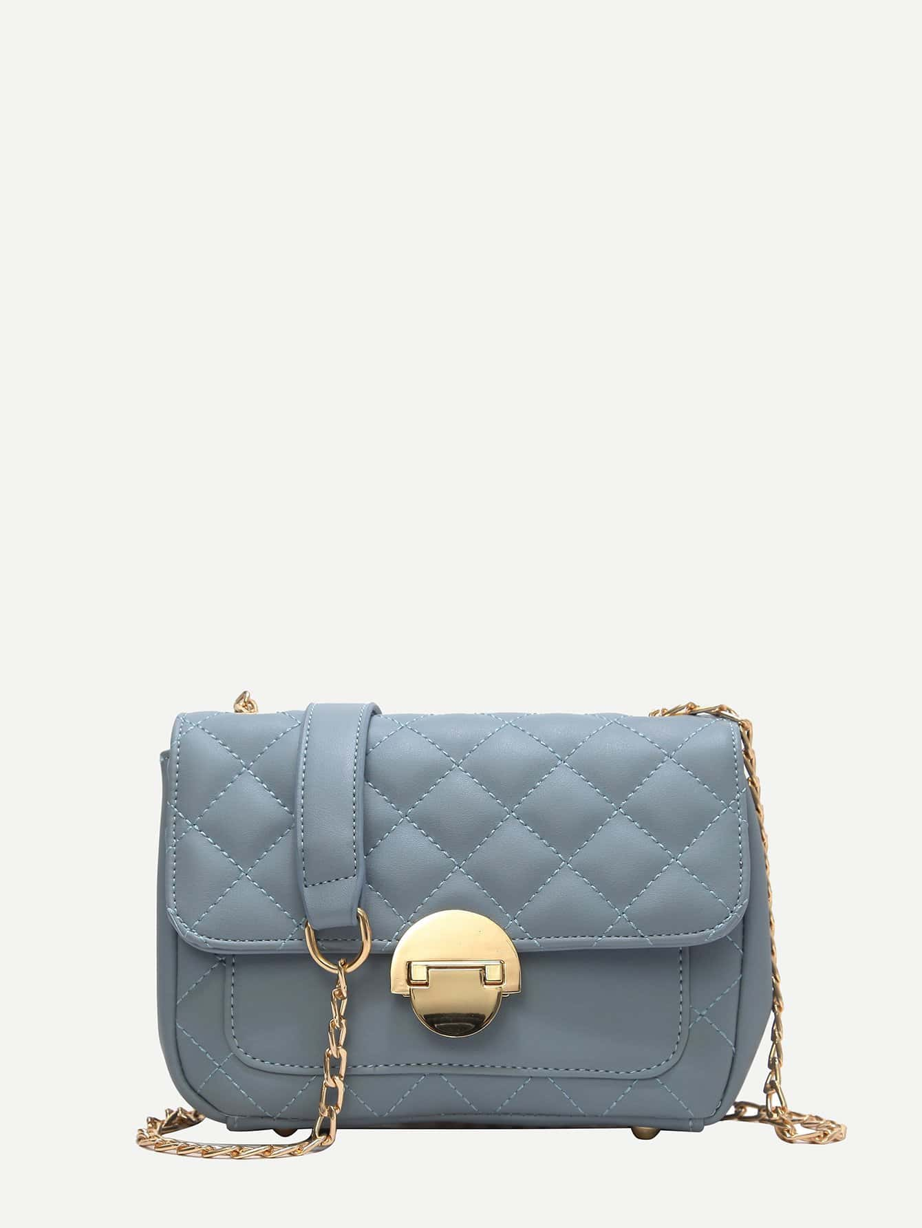Quilted Chain Bag kalencom cумка traveler bag quilted cream