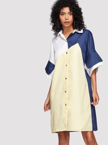 Cut And Sew Shirt Dress