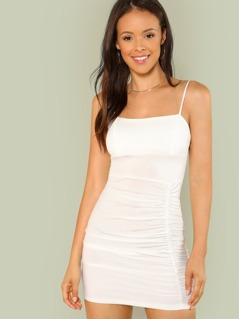 Ruched Mini Dress