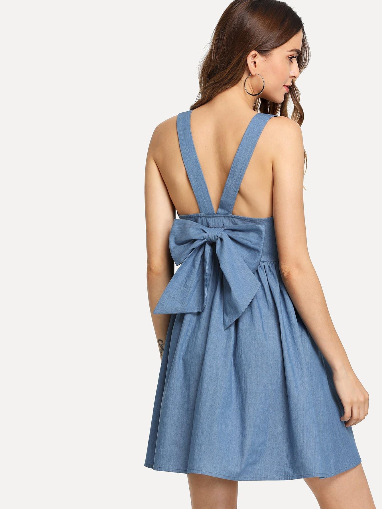 Джинсовое платье сарафан с пуговицами