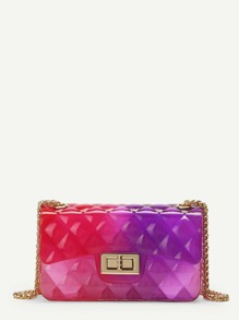 Clear Multicolor Chain Bag