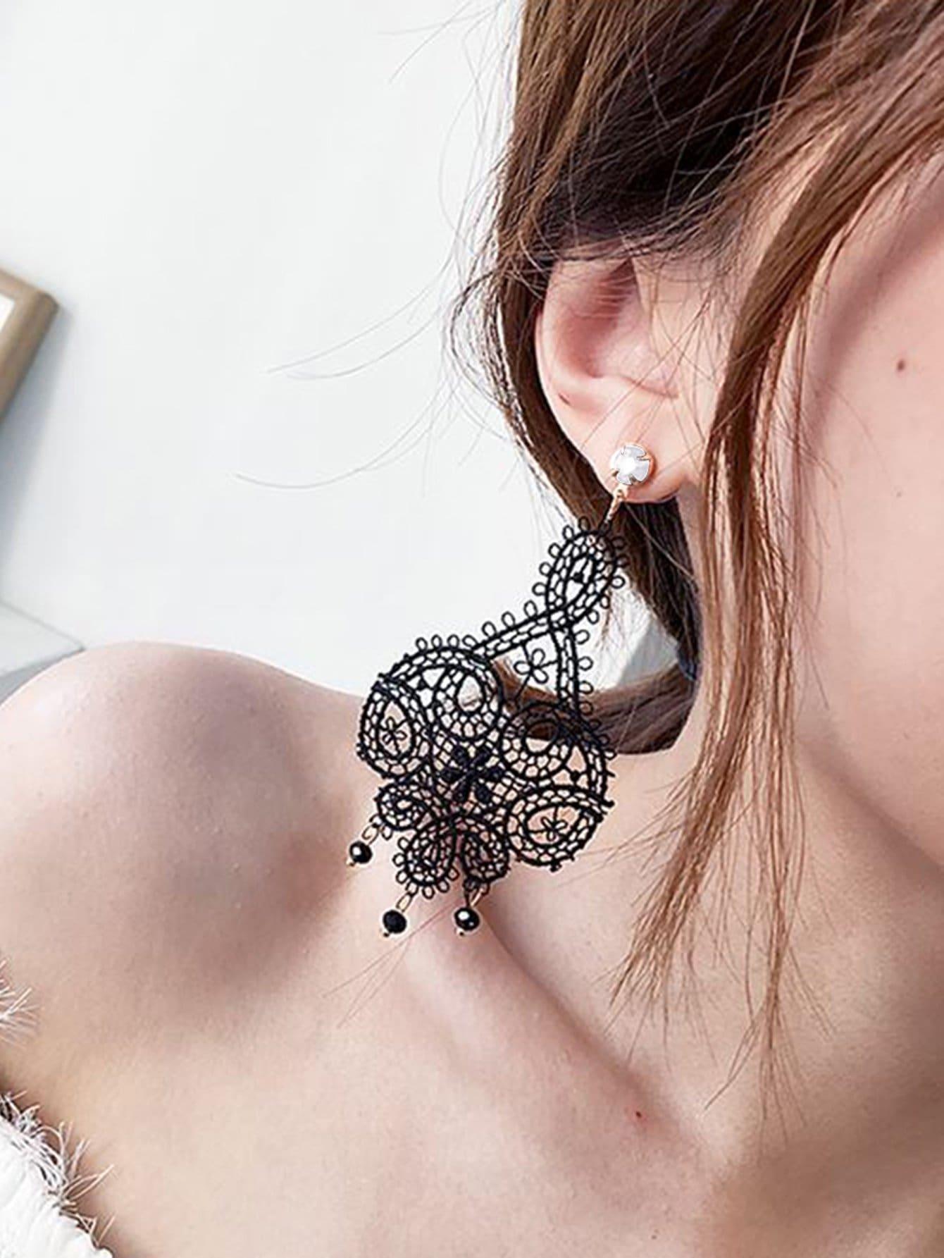 Anweisung Spitze Ohrringe