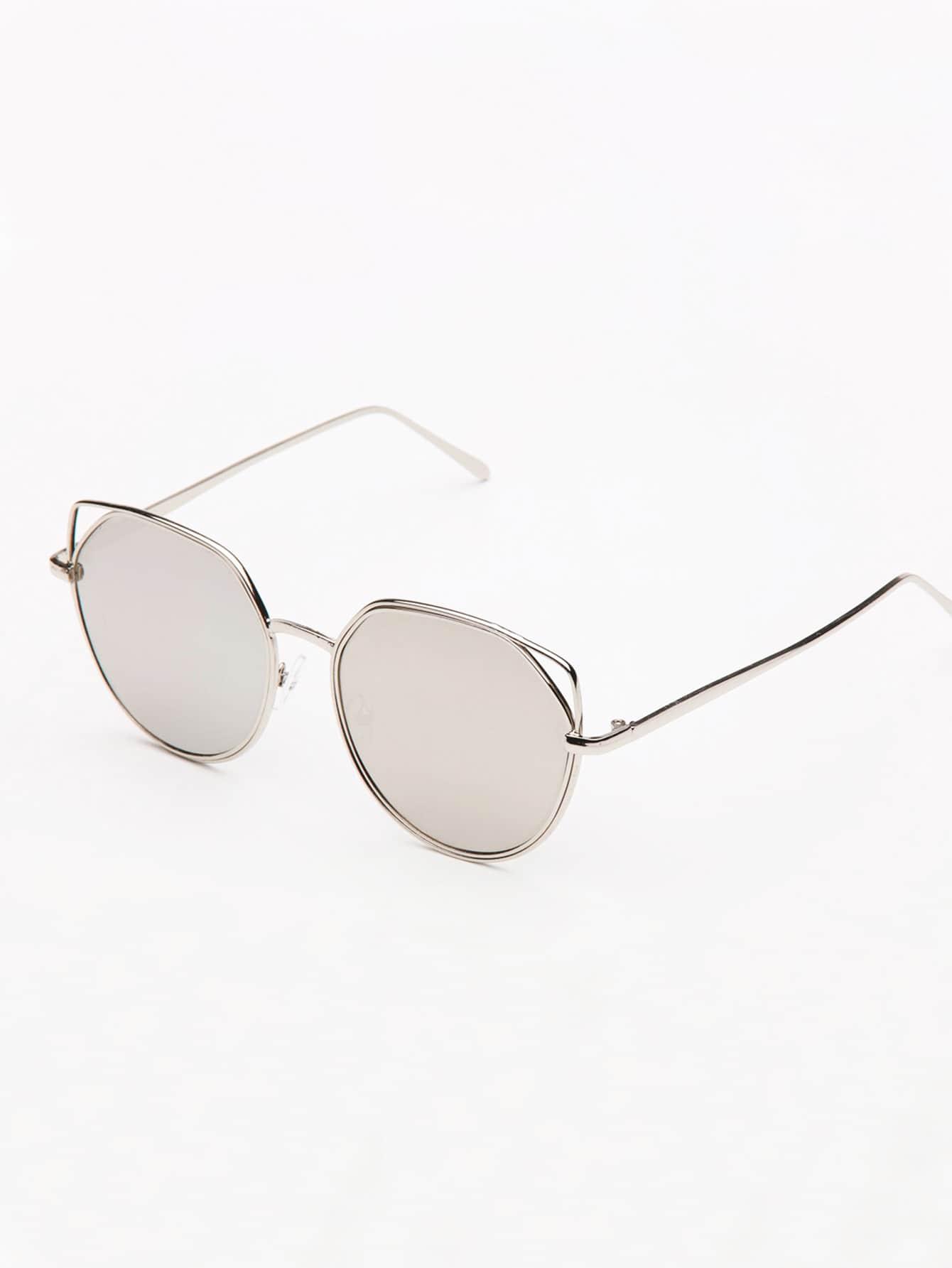 цена на Metal Frame Cat Eye Sunglasses
