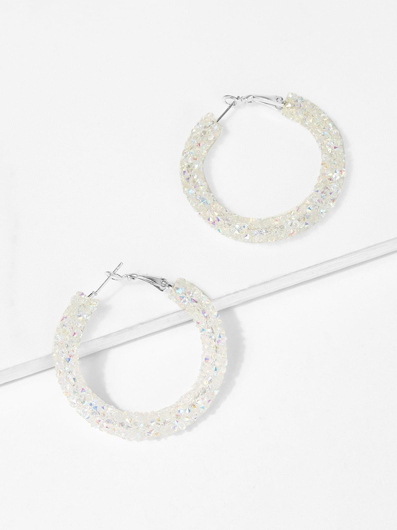 Glitter Hoop Earrings glitter hoop stud earrings
