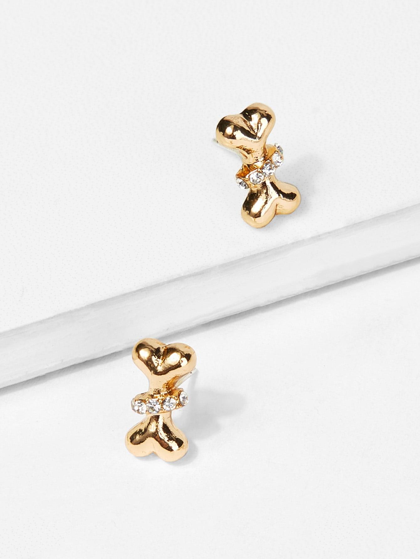 Bone Shaped Stud Earrings waterdrop shaped stud earrings