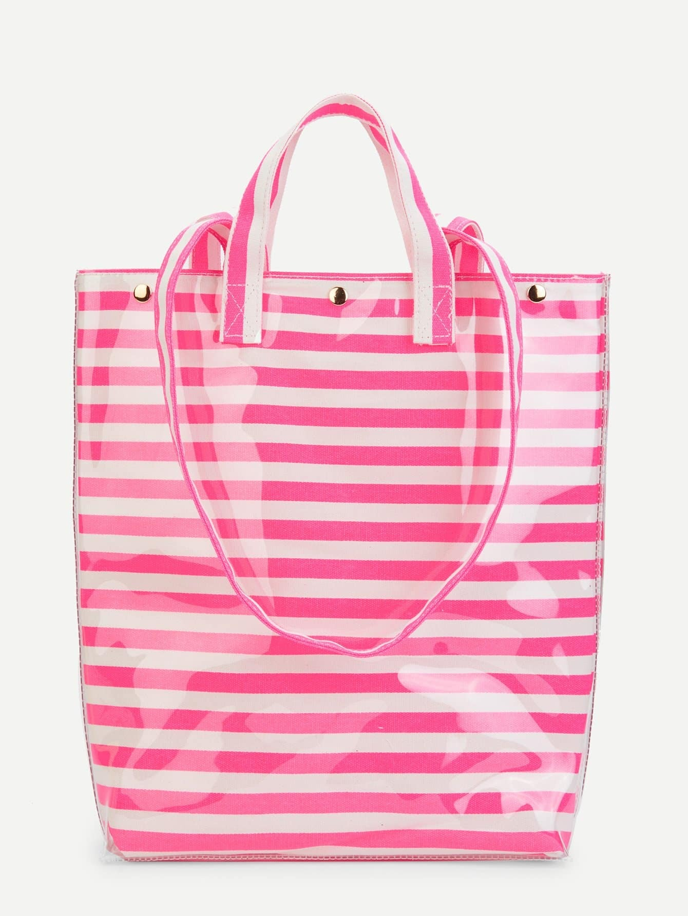 Striped Tote Bag With Convertible Strap средство чистящее techpoint powerclean для очистки плит и духовых шкафов 500 мл