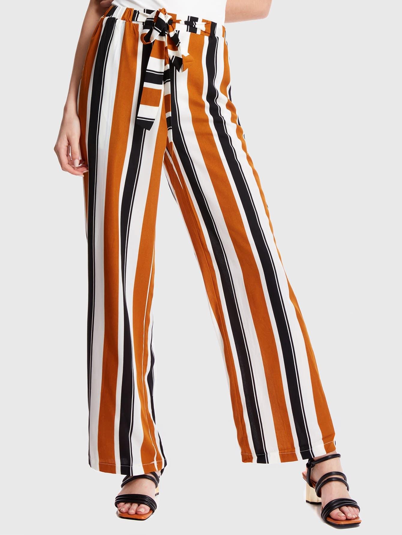 Купить Полосатые штаны из брюк, Grace, SheIn