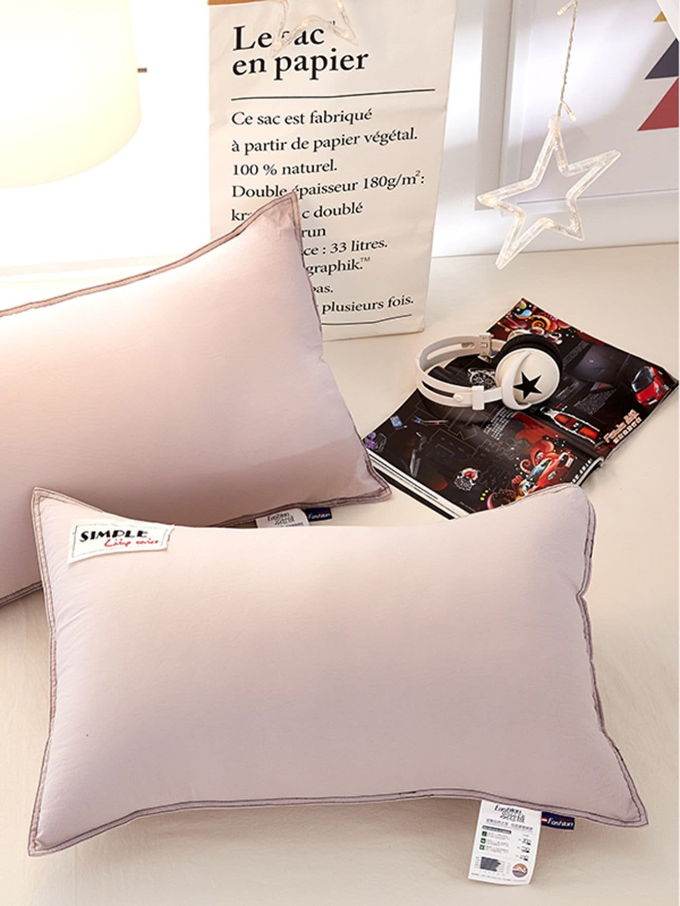 Simple Letter Embroidery Pillow 1Pc zipper pillow 1pc