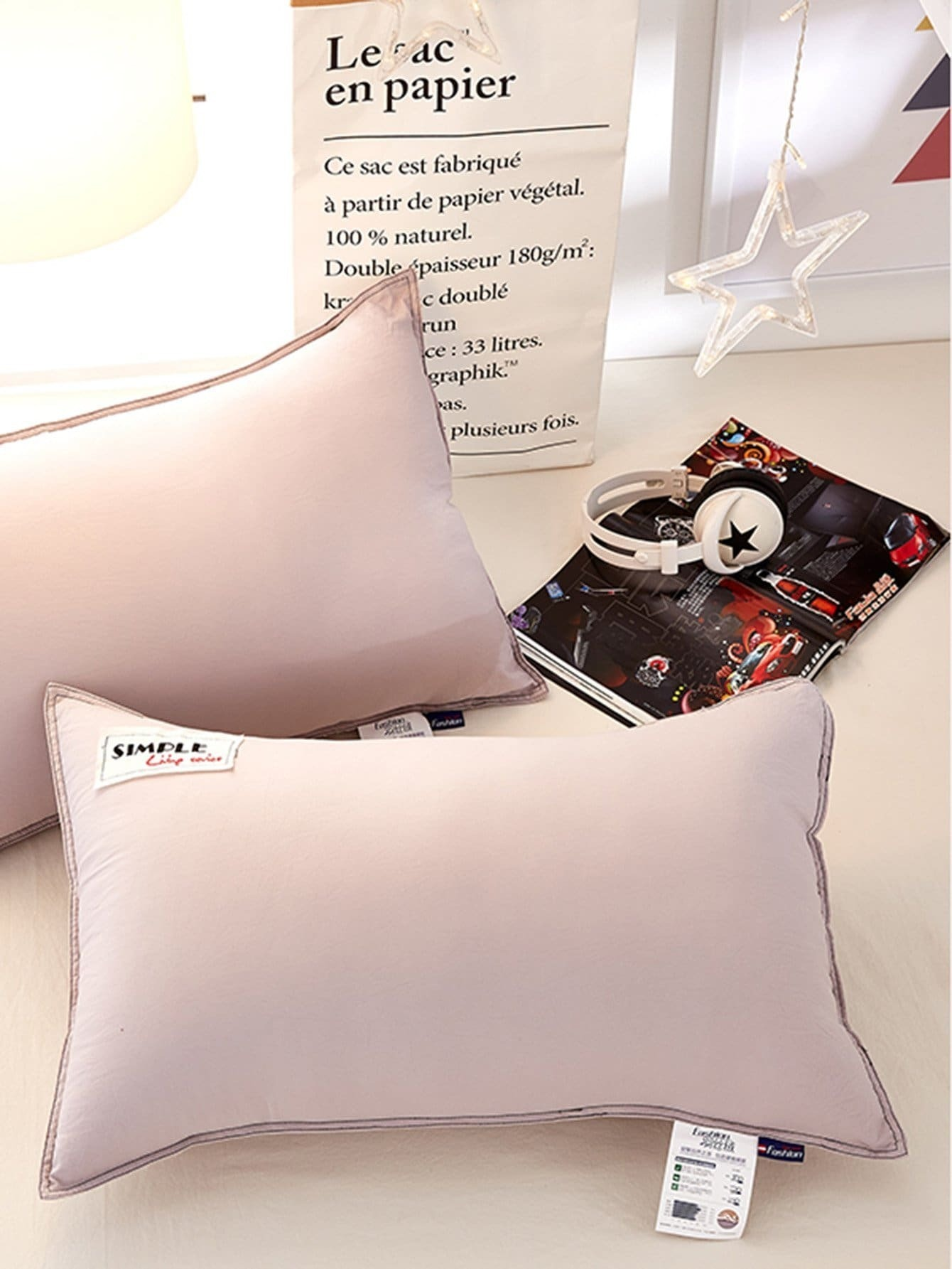 Simple Letter Embroidery Pillow 1Pc simple plain pillow 1pc