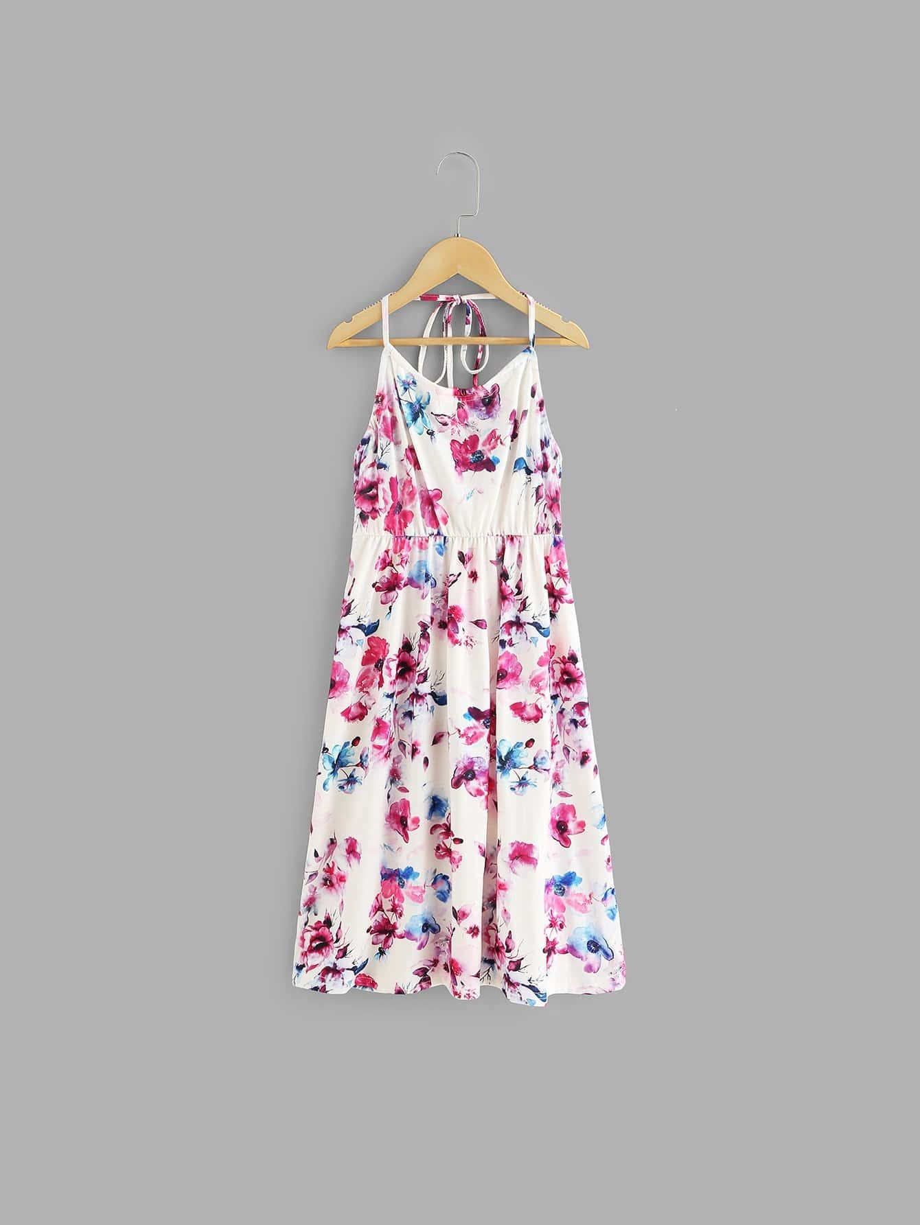 Girls All Over Floral Print Halter Dress