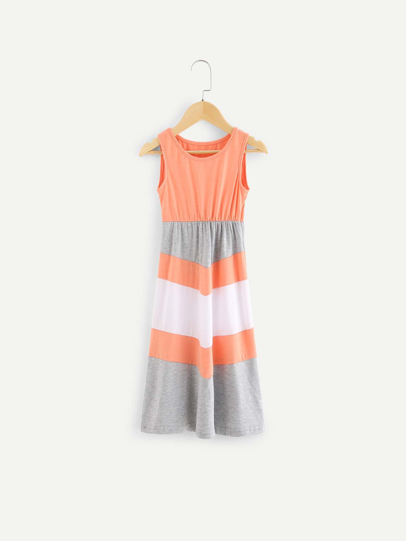 Girls Cut And Sew Colorblock Dress girls cut and sew top