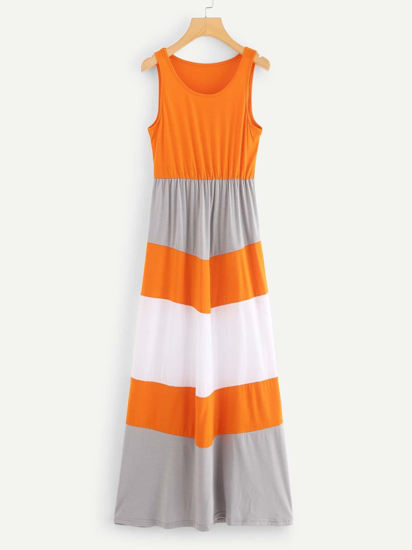 Contrast Panel Colorblock Dress kids contrast panel sleeveless dress