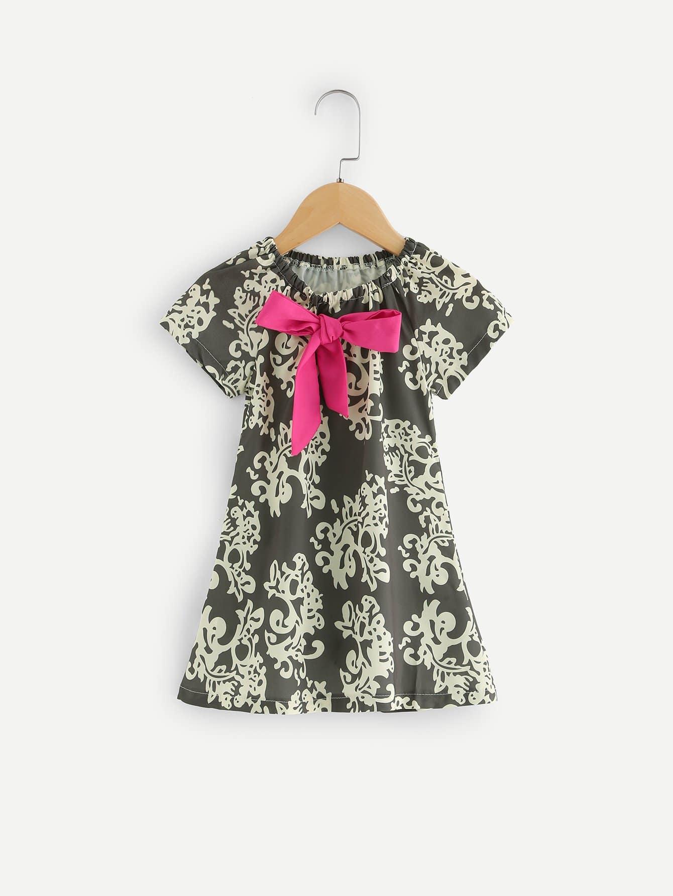 Детское платье для галстука с бабочкой