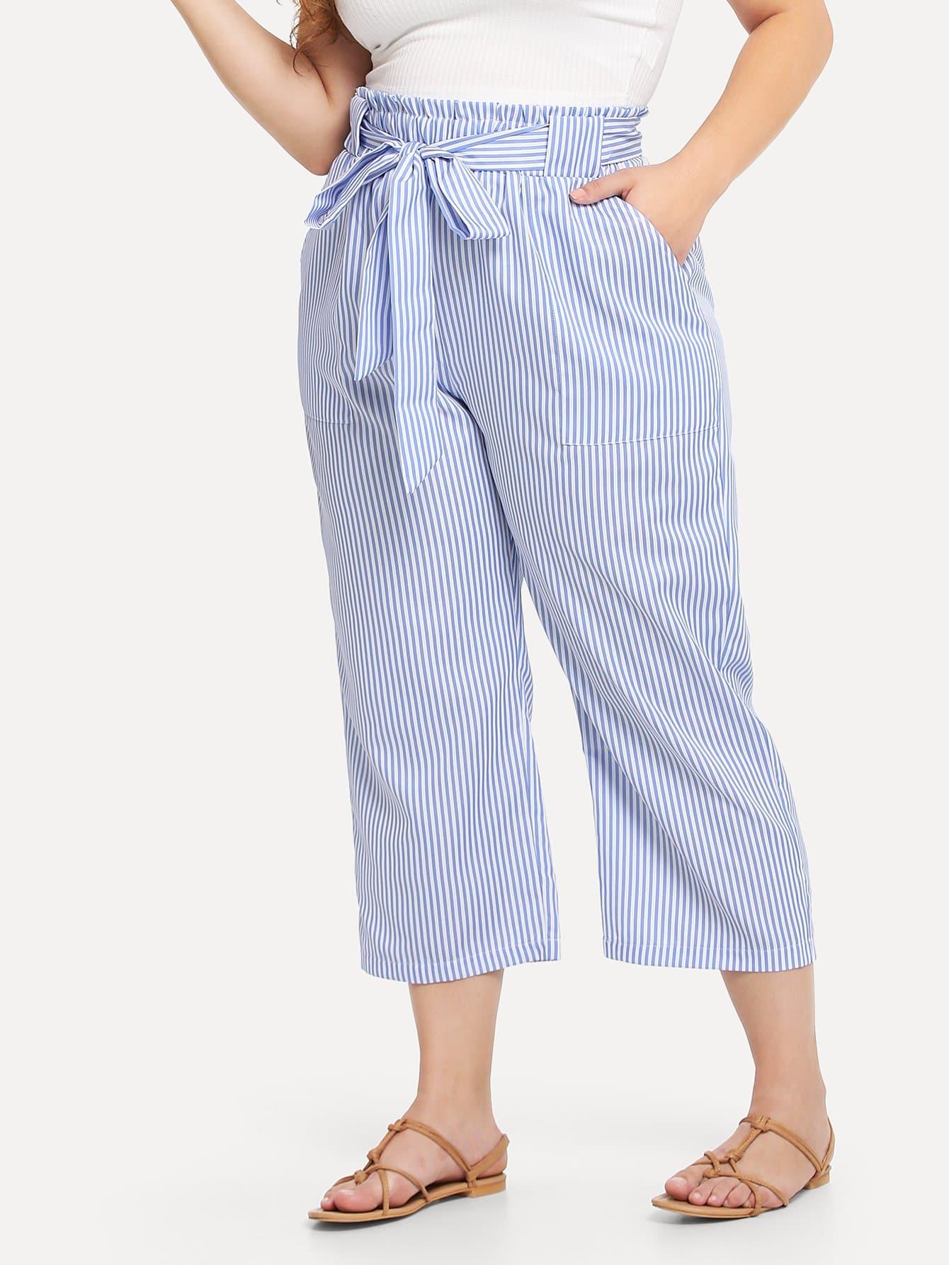 Self Tie Waist Striped Pants striped self tie waist dress